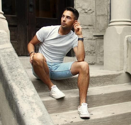 Mens Levis 511 Skinny Cut Off Jean Denim Shorts